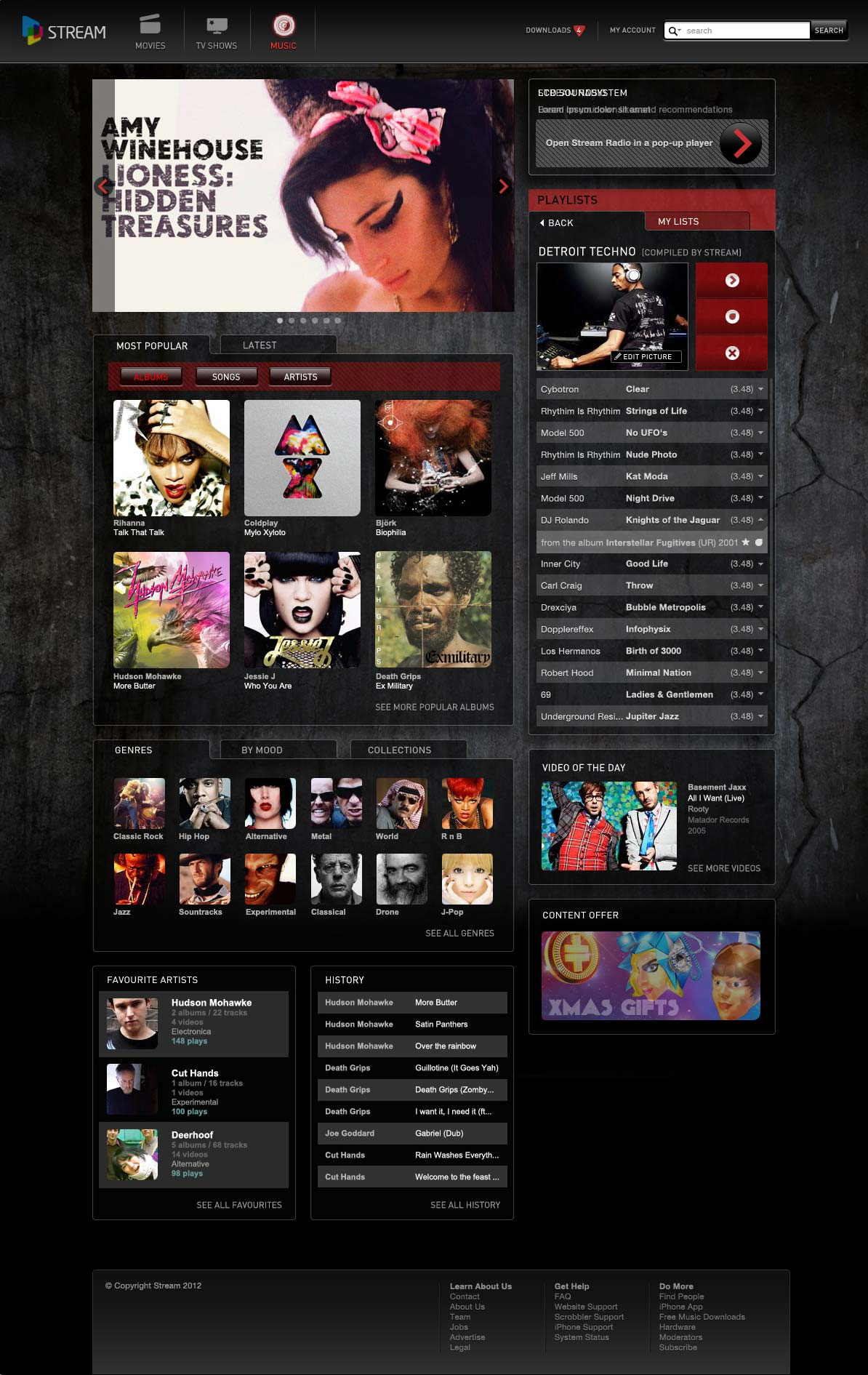 MTS Stream Music Website