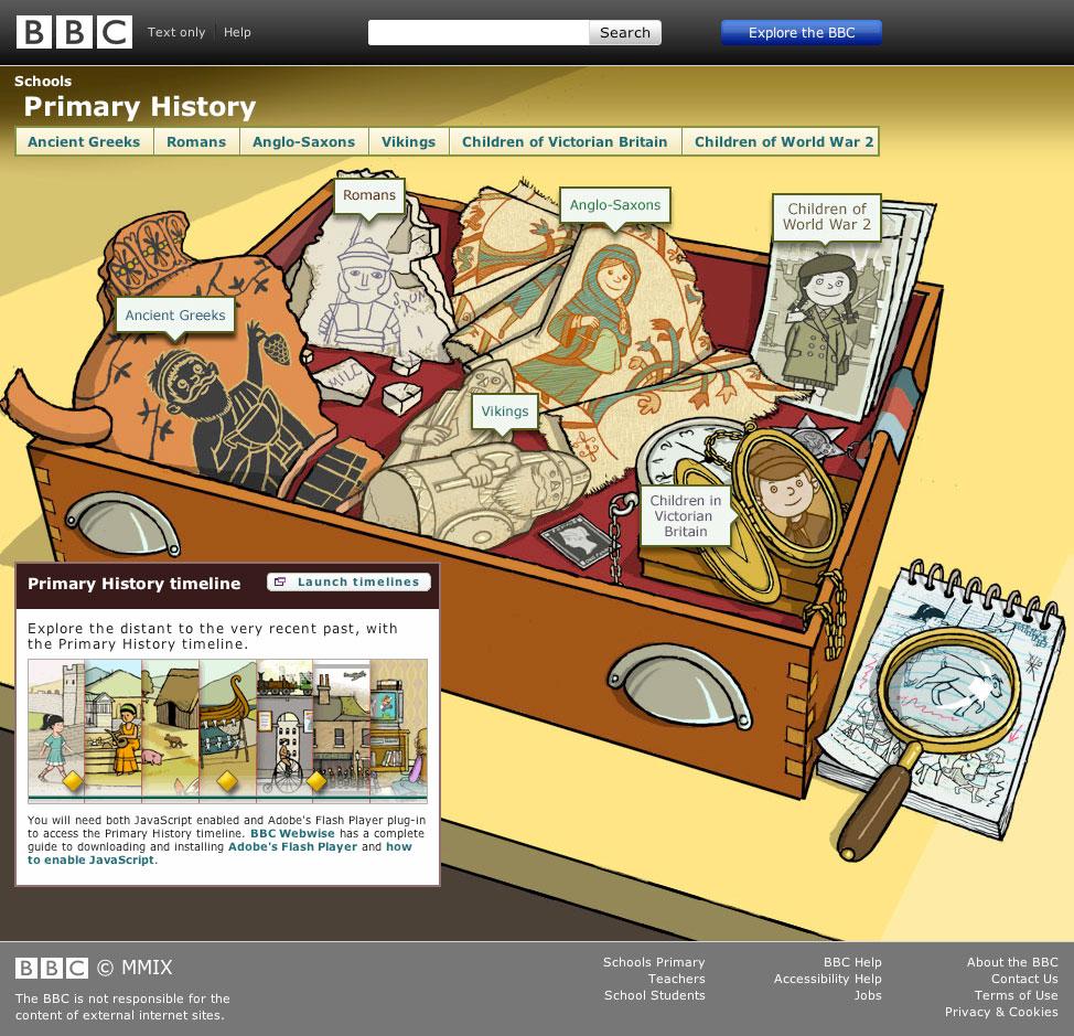 BBC Primary History Homepage