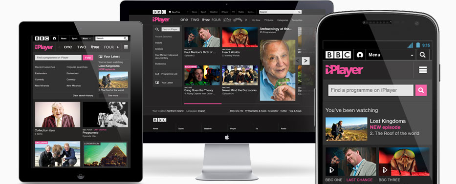 BBC iPlayer responsive web