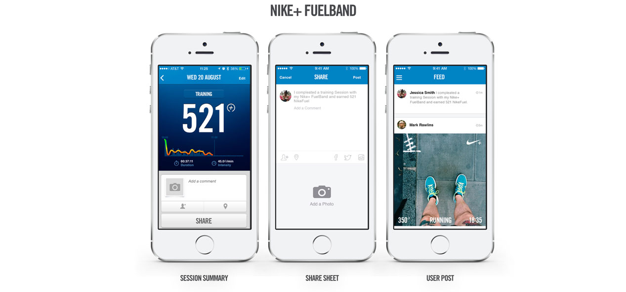Fuelband Sharing example