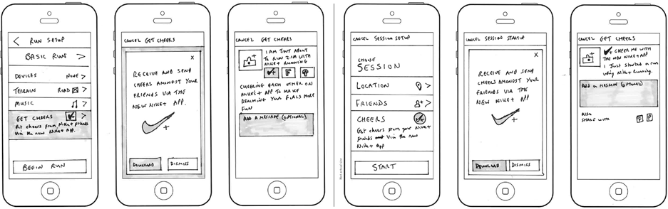 Nike Mobile Sketches
