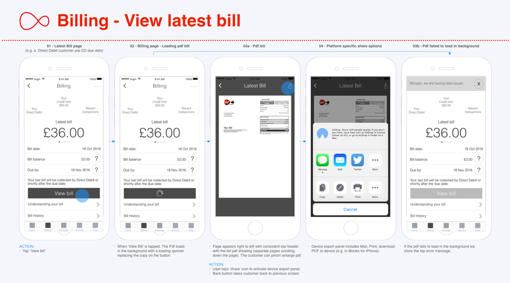 View Bill Screen